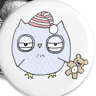 Design ~ Sleepy Night Owl Buttons