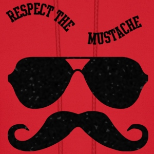 Respect The Moustache Hoodies - Men's Hoodie