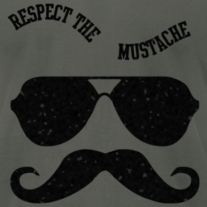 Respect The Moustache T-Shirts - Men's T-Shirt by American Apparel
