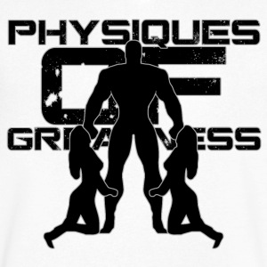 Physiques of Greatness T-Shirts - Men's V-Neck T-Shirt by Canvas