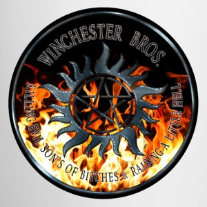 Winchester Bros protection Symbal Ring Patch Iron  Bottles & Mugs - Coffee/Tea Mug