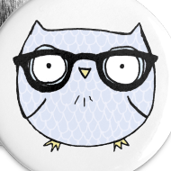 Design ~ Nerd Owl Buttons
