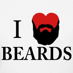 I Heart Beards Women's T-Shirts