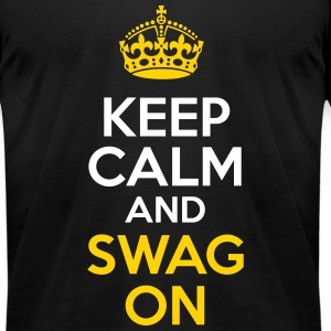 KCCO - Keep Calm and Swag On T-Shirts - Men's T-Shirt by American Apparel