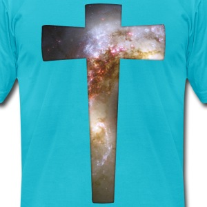 Cosmic Cross T-Shirts - Men's T-Shirt by American Apparel
