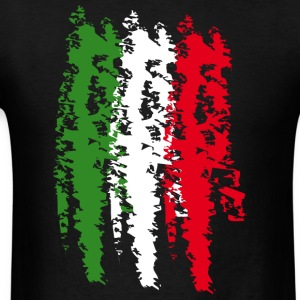 Italy Flag Vintage Graffiti Support T-Shirts - Men's T-Shirt