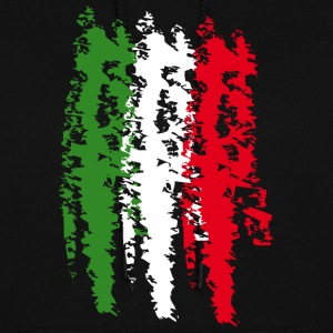 Italy Flag Vintage Graffiti Support Hoodies - Women's Hoodie