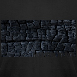Black Ashes Pattern with MediumBlack.ca Logo T-Shirts - Men's T-Shirt by American Apparel