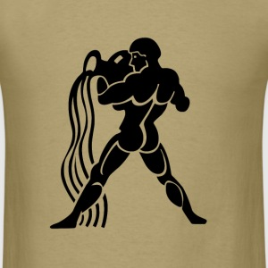 Aquarius Zodiac Sign T-shirt Aquarius Symbol Water - Men's T-Shirt