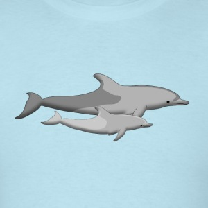 dolphin and baby dolphin T-Shirts - Men's T-Shirt