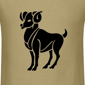 Aries Zodiac Sign T-shirt - Aries Symbol Ram - Men's T-Shirt
