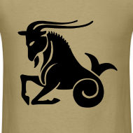 Design ~ Capricorn Zodiac Sign T-shirt - Capricorn Symbol Goat