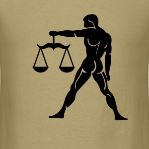 Libra Zodiac Sign T-shirt - Libra Symbol Scales - Men's T-Shirt