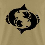 Design ~ Pisces Zodiac Sign T-shirt - Pisces Symbol Two Fish