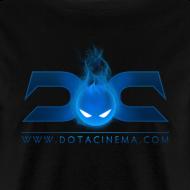 Design ~ MENS TEE: DotaCinema logo 2 black text