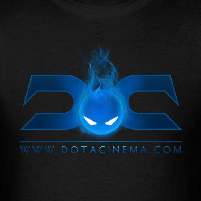 MENS TEE: DotaCinema logo 2 black text