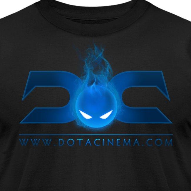MENS TEE: DotaCinema logo 2 black text