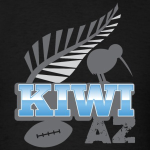 Kiwi AS with silver fern bird and rugby ball T-Shirts - Men's T-Shirt