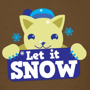 Let it SNOW cute winter kitty cat T-Shirts - Men's T-Shirt