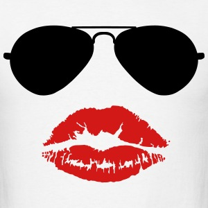 Aviator Sunglasses and Kiss T-Shirts - Men's T-Shirt