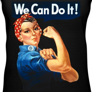 We Can Do It! Women's T-Shirts - Women's V-Neck T-Shirt
