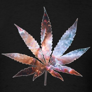 Cosmic Pot Leaf T-Shirts - Men's T-Shirt