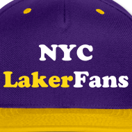 Design ~ NYC Laker Fans Flat brim hat