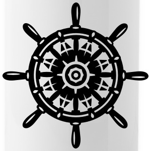 A ship wheel Bottles & Mugs - Water Bottle