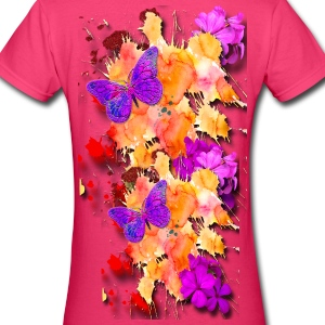 Flower Garden - Women's V-Neck T-Shirt