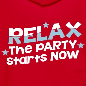 RELAX the party STARTS now wave design Zip Hoodies & Jackets - Unisex Fleece Zip Hoodie by American Apparel