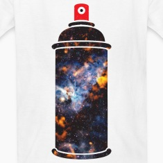 Cosmic Spray Paint Kids' Shirts