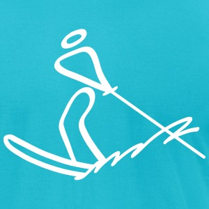Extreme Waterskiing T-Shirts - Men's T-Shirt by American Apparel