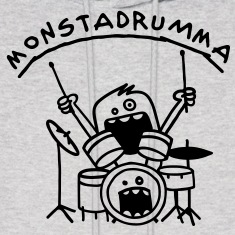 Monster Drummer Hoodies