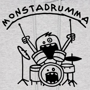 Monster Drummer Hoodies - Men's Hoodie