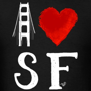 I Heart San Francisco (remix) by Tai's Tees - Men's T-Shirt