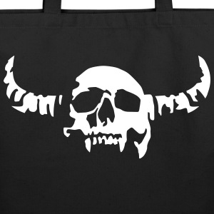 devil_skull_042013_a_1c Bags  - Eco-Friendly Cotton Tote