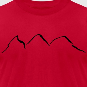 Mountains T-Shirts - Men's T-Shirt by American Apparel