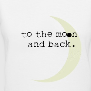 To the Moon and Back Women's T-Shirts - Women's V-Neck T-Shirt
