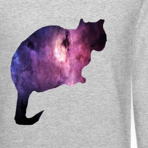 Galaxy Cat Long Sleeve Shirts - Crewneck Sweatshirt