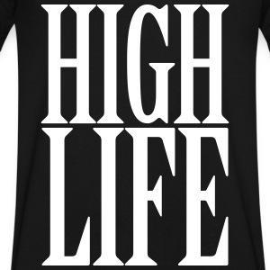 High Life T-Shirts - Men's V-Neck T-Shirt by Canvas