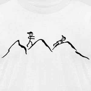 Climber in the mountains T-Shirts - Men's T-Shirt by American Apparel