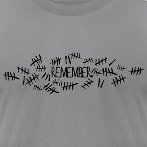 Doctor Who Remember Tally Marks T-Shirts - Men's T-Shirt by American Apparel