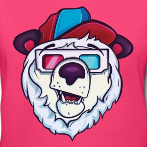 Ice cold polar bear Women's T-Shirts - Women's V-Neck T-Shirt