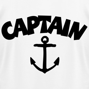 Captain T-Shirt (White/Back) - Men's T-Shirt by American Apparel