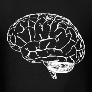 Brain Outline - Men's T-Shirt