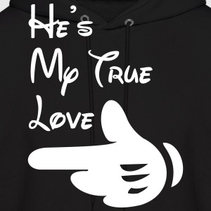He's my true love - Men's Hoodie