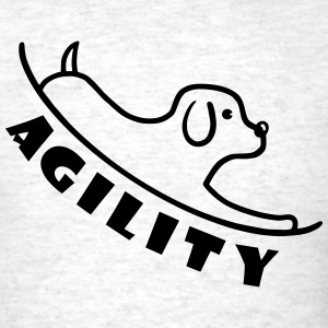 Agility with dog T-Shirts - Men's T-Shirt