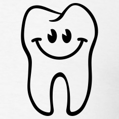 Tooth- / Dent- / Diente- / Dente- / Zahn-Smiley T-Shirts