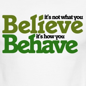 It's not what you believe - Men's Ringer T-Shirt