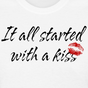 Pregnant It All Started With A Kiss T-Shirt - Women's T-Shirt